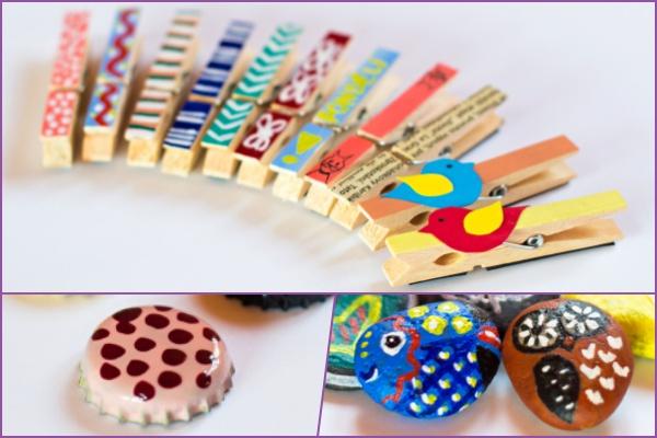 Proměňte pivní zátky, kameny i korky na magnetické dekorace