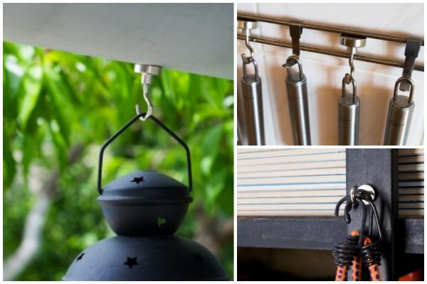 12 způsobů využití silných magnetických háčků. Silní pomocníci domů i na zahradu