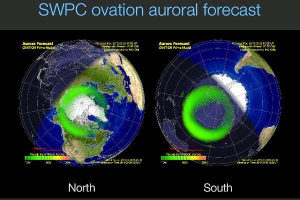 Mobilní aplikace pro předpověď polární záře.