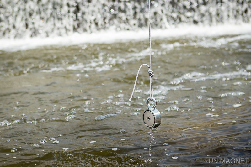 Magnet fishing.