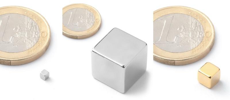 Typy kostkových magnetů.