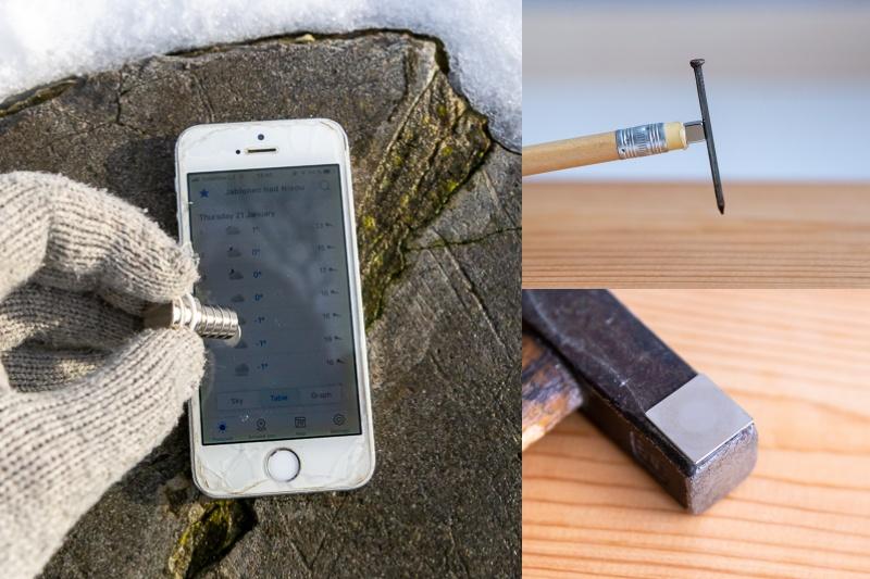 Magnetické mini triky 7: Vyrobte si držák na hřebíky, ovládejte displej v rukavicích