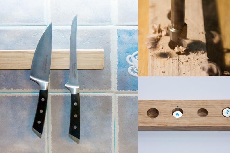 Magnetický držák na nože.