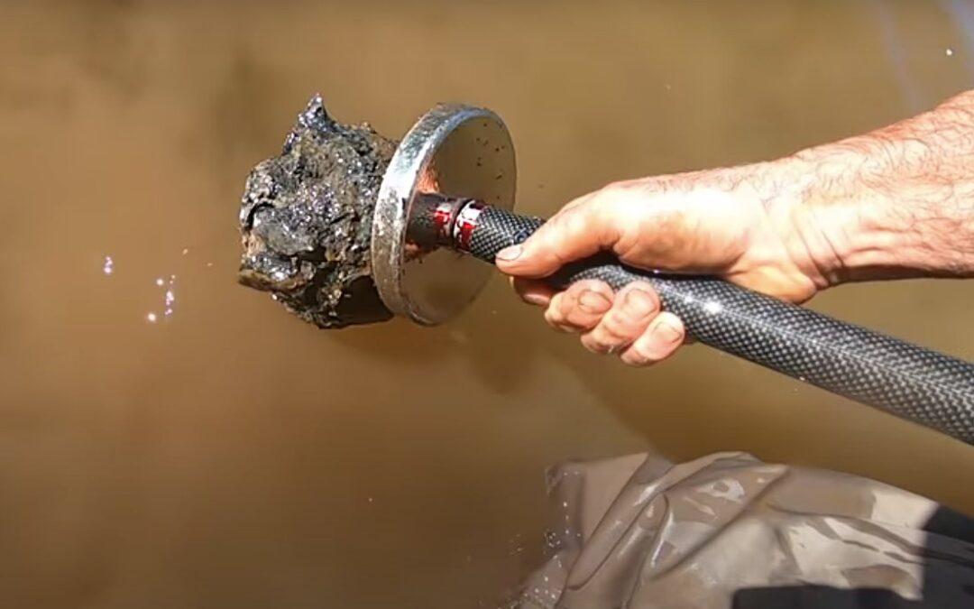 Lovíte často v mělkých vodách? Vyrobte si tyč pro magnet fishing