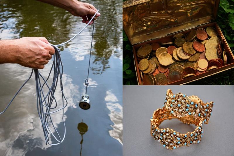 Magnet fishing 19: Dají se silným magnetem z vody vytáhnout mince, zlato a stříbro?