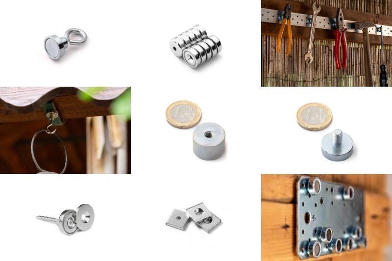 Neodymové magnety 11: Co jsou magnetické úchyty a držáky, jaké existují?