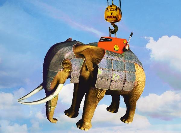 Jak naložit slona v brnění na náklaďák? Použijte břemenový zvedací magnet