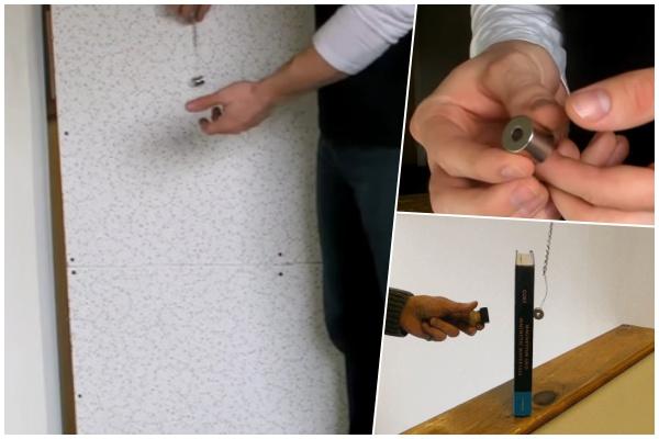 Jak protáhnout kabel nebo drát za stěnou? Neodymovým magnetem!