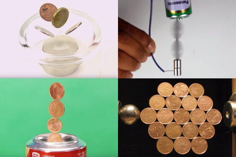 6 triků pro mince a silné neodymové magnety. Vyzkoušejte