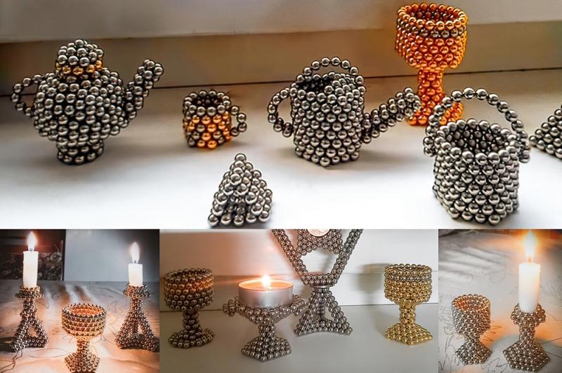 Tipy našich zákazníků: Svícnové nádobíčko Jozefa zmagnetických kuliček NeoCube